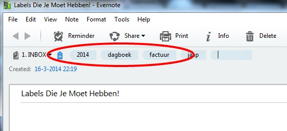 8 Labels Die Je Moet Hebben in Evernote