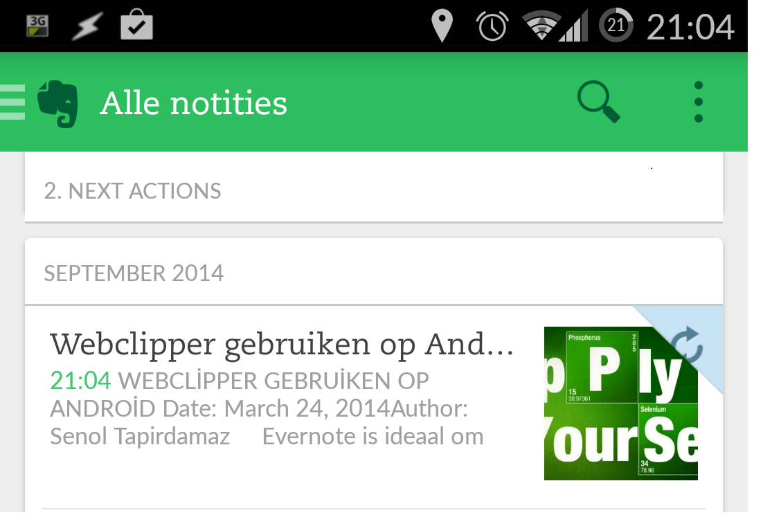 Webpagina's en Notities Clippen op je Android Tablet of Telefoon