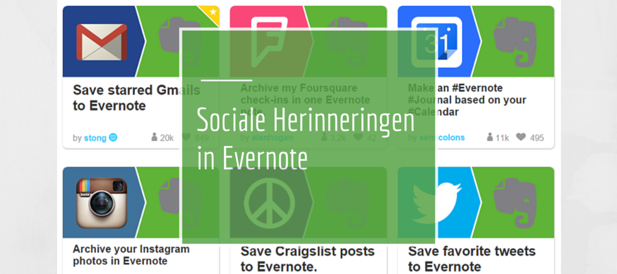 Tweet je notities naar Evernote