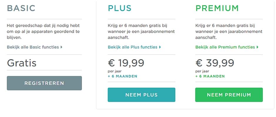 Wat kun je met Evernote Plus en Premium?