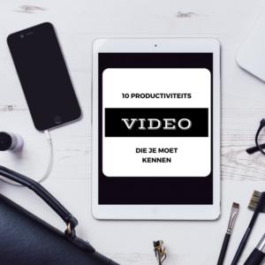 10 Productiviteitstips die je moet kennen